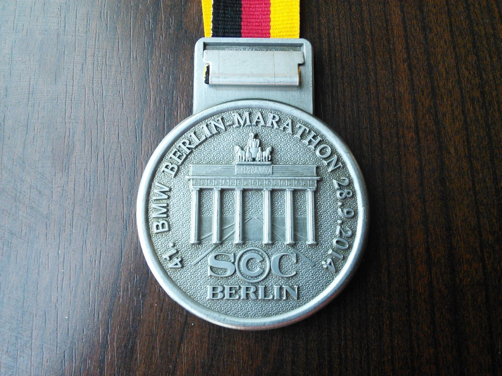 Berlin Marathon 2014 finisher's medal.