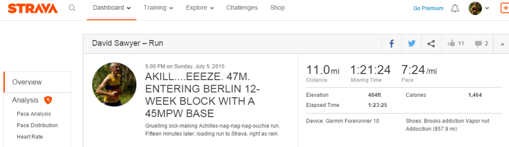 AKILL....EEEZE. 47M. ENTERING BERLIN 12-WEEK BLOCK WITH A 45MPW BASE _ Run _ Strava